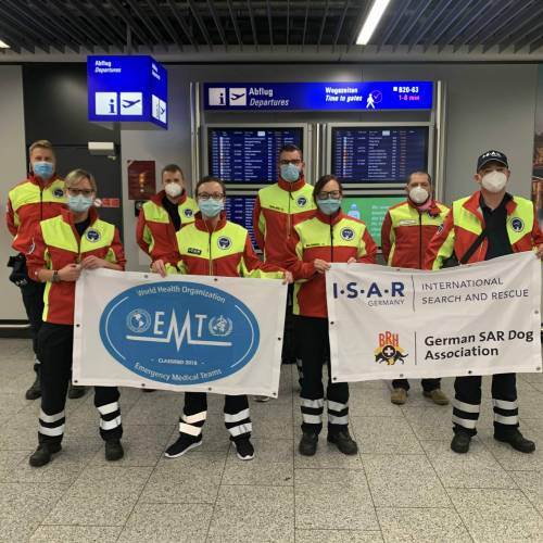 Our partners in I.S.A.R. Germany contributed to the German EMT mission in Namibia to fight against COVID-19