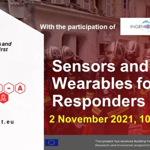 INGENIOUS at RESPOND-A Webinar on Sensors and Smart Wearables for First Responders